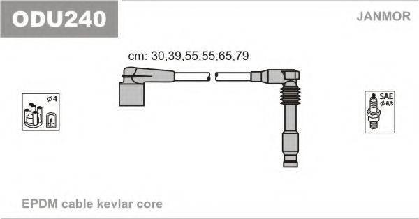 Комплект проводов зажигания JANMOR ODU240