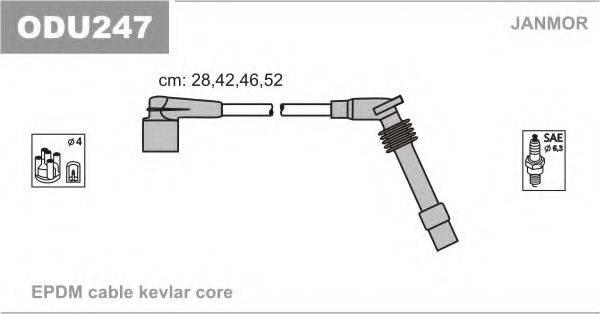 Комплект проводов зажигания JANMOR ODU247