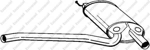 Средний глушитель выхлопных газов BOSAL 105-167