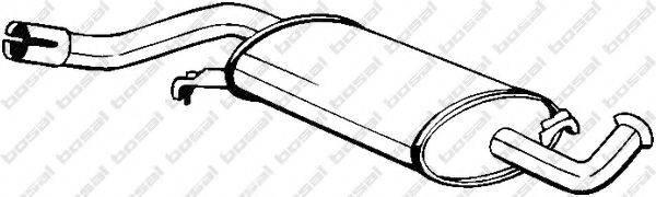 Средний глушитель выхлопных газов BOSAL 105-153