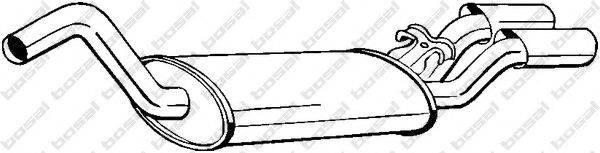 Глушитель выхлопных газов конечный BOSAL 105-127