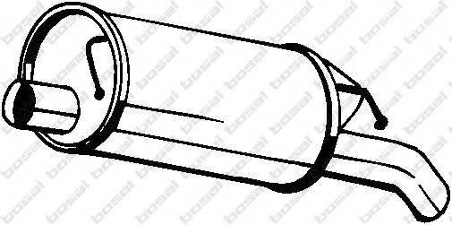 Глушитель выхлопных газов конечный BOSAL 105-137