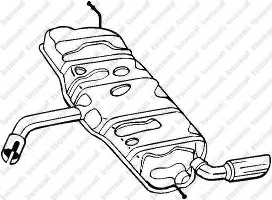Глушитель выхлопных газов конечный BOSAL 105-503
