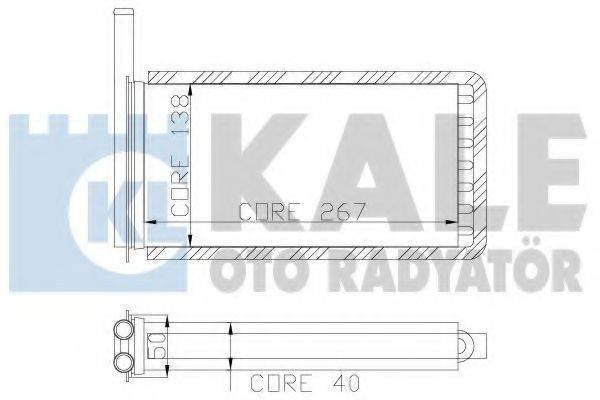 Радиатор печки KALE OTO RADYATOR 104700