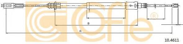 Трос, стояночная тормозная система COFLE 10.4611
