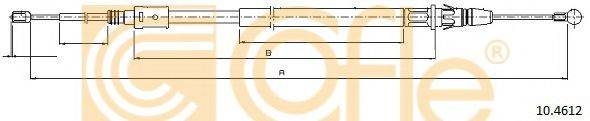 Трос, стояночная тормозная система COFLE 10.4612