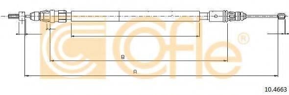 Трос, стояночная тормозная система COFLE 10.4663
