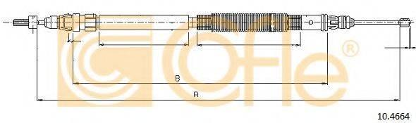 Трос, стояночная тормозная система COFLE 10.4664