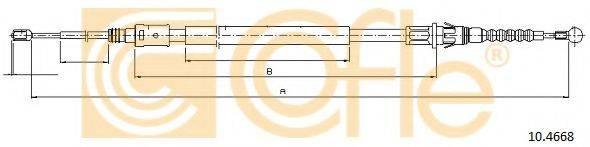 Трос, стояночная тормозная система COFLE 10.4668