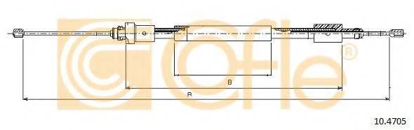 Трос, стояночная тормозная система COFLE 10.4705