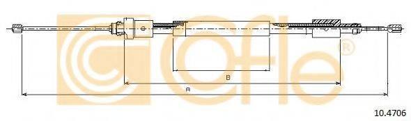 Трос, стояночная тормозная система COFLE 10.4706