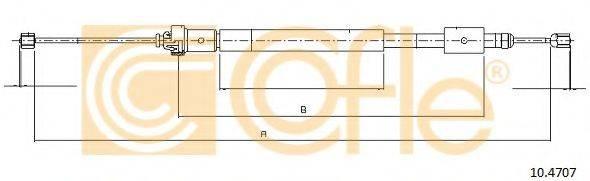 Трос, стояночная тормозная система COFLE 10.4707