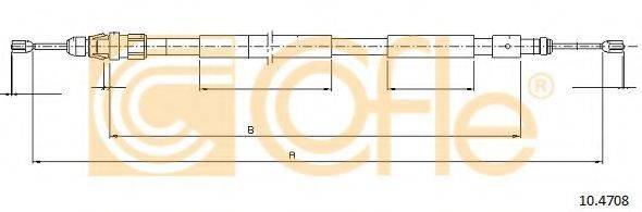 Трос, стояночная тормозная система COFLE 10.4708