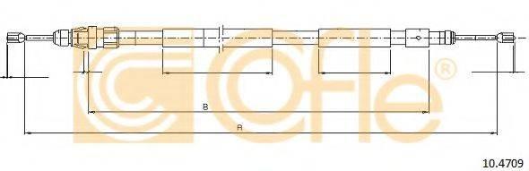 Трос, стояночная тормозная система COFLE 10.4709
