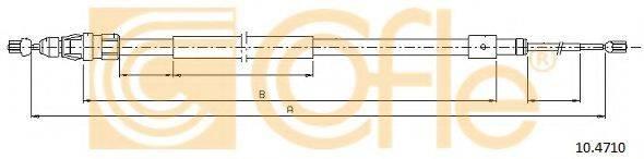 Трос, стояночная тормозная система COFLE 10.4710