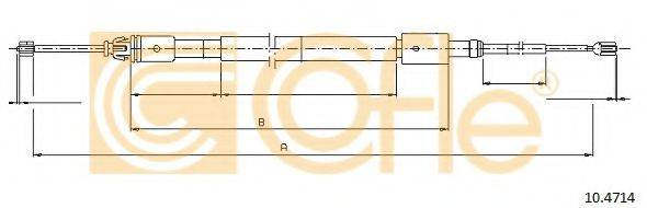 Трос, стояночная тормозная система COFLE 10.4714