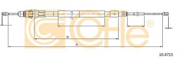 Трос, стояночная тормозная система COFLE 10.4715