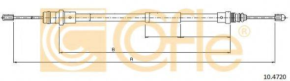 Трос, стояночная тормозная система COFLE 10.4720