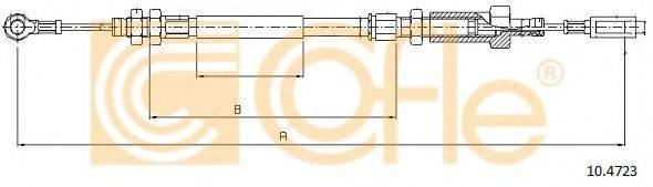 Трос, стояночная тормозная система COFLE 10.4723