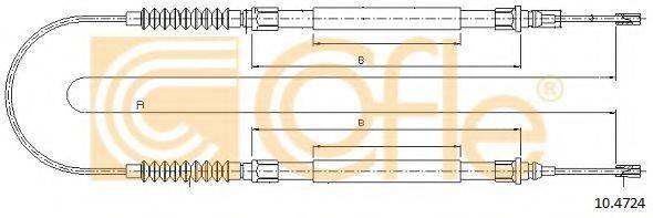 Трос, стояночная тормозная система COFLE 10.4724