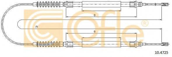 Трос, стояночная тормозная система COFLE 10.4725