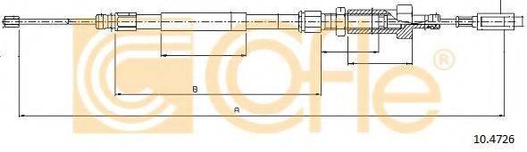Трос, стояночная тормозная система COFLE 10.4726