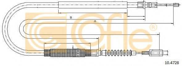 Трос, стояночная тормозная система COFLE 10.4728
