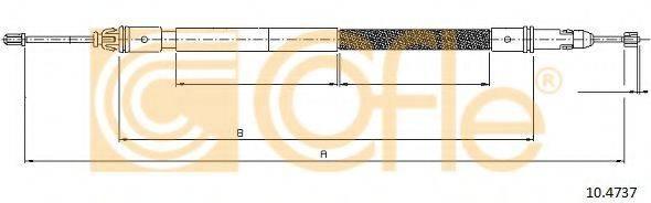 Трос, стояночная тормозная система COFLE 10.4737