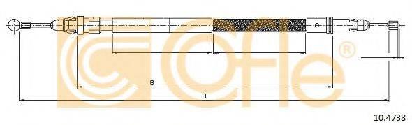 Трос, стояночная тормозная система COFLE 10.4738