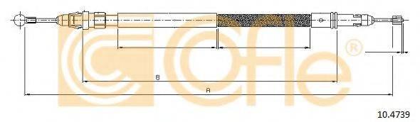 Трос, стояночная тормозная система COFLE 10.4739