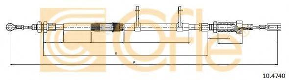 Трос, стояночная тормозная система COFLE 10.4740