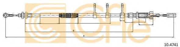 Трос, стояночная тормозная система COFLE 10.4741