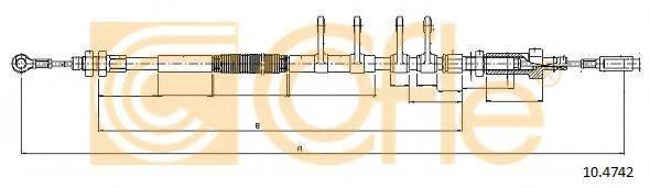 Трос, стояночная тормозная система COFLE 10.4742