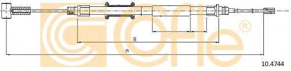 Трос, стояночная тормозная система COFLE 10.4744