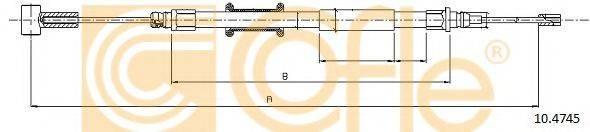 Трос, стояночная тормозная система COFLE 10.4745