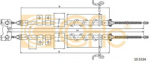 Трос, стояночная тормозная система COFLE 10.5334
