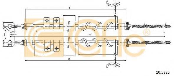 Трос, стояночная тормозная система COFLE 10.5335