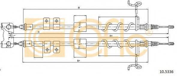 Трос, стояночная тормозная система COFLE 10.5336