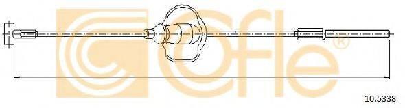 Трос, стояночная тормозная система COFLE 10.5338