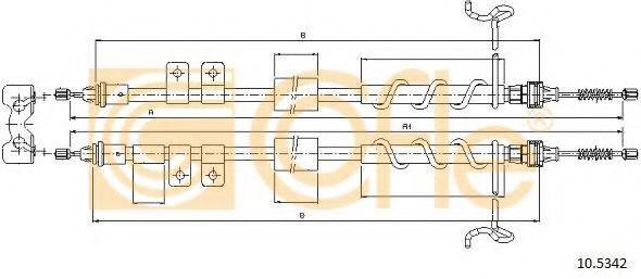Трос, стояночная тормозная система COFLE 10.5342