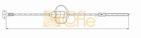 Трос, стояночная тормозная система COFLE 10.5346
