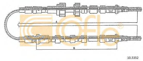 Трос, стояночная тормозная система COFLE 10.5352
