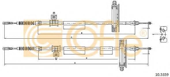 Трос, стояночная тормозная система COFLE 10.5359