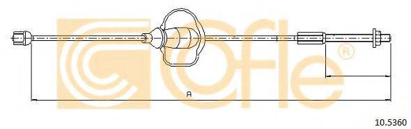 Трос, стояночная тормозная система COFLE 10.5360