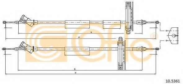 Трос, стояночная тормозная система COFLE 10.5361