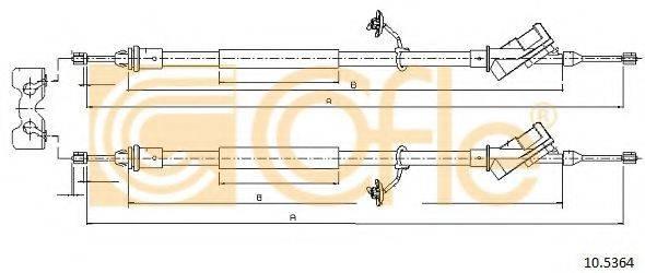 Трос, стояночная тормозная система COFLE 10.5364