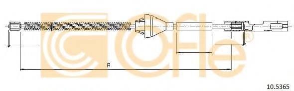 Трос, стояночная тормозная система COFLE 10.5365