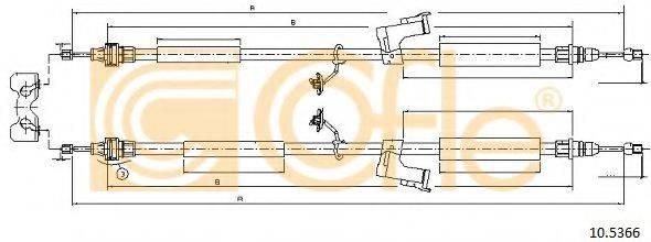 Трос, стояночная тормозная система COFLE 10.5366