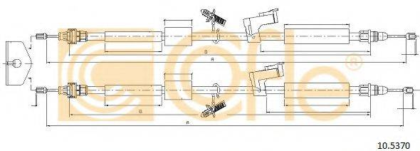 Трос, стояночная тормозная система COFLE 10.5370
