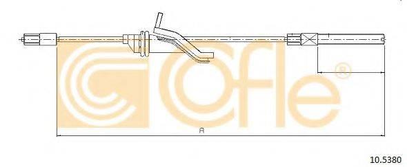 Трос, стояночная тормозная система COFLE 10.5380